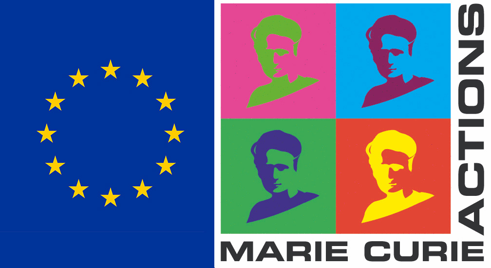 Merged EU logo and Marie Curie logo